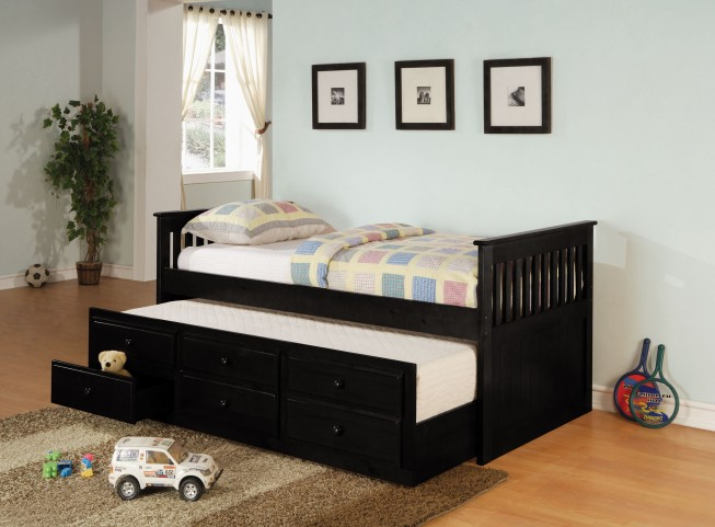 Black Daybed With Trundle