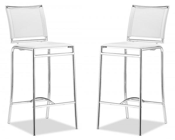 Soar Bar Chair White Set of 2