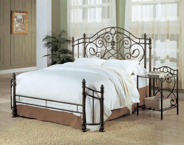 Violet Dark Antique Bronze Bedroom Set