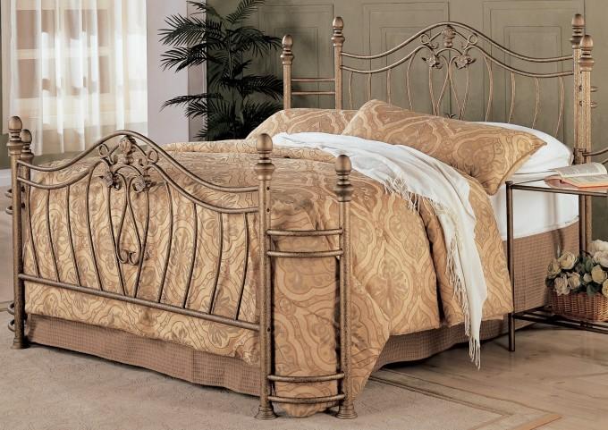 Sydney Antique Brushed Gold Queen Bed