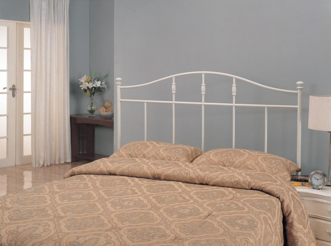 White Metal Twin Headboard 300183T