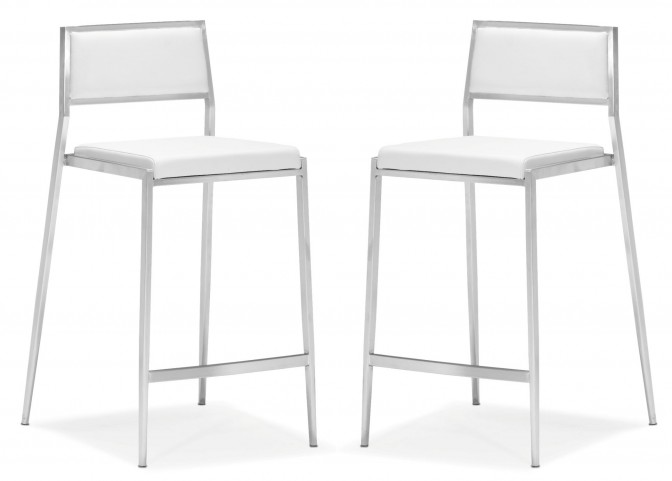 Dolemite Counter Chair White Set of 2