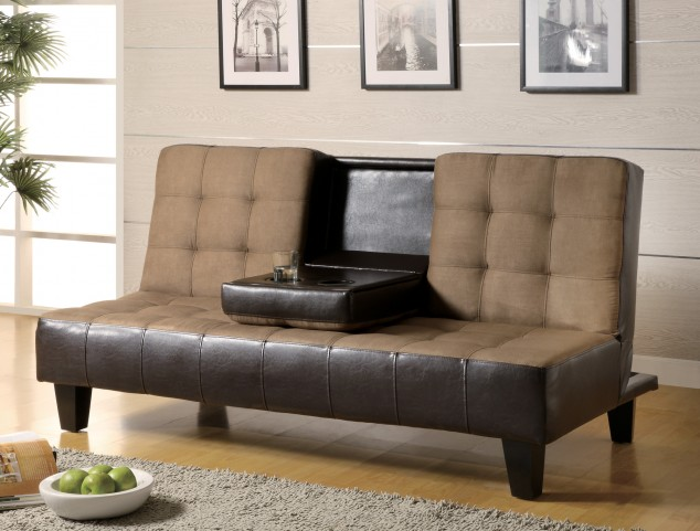 Convertible Sofa Bed With Drop Down Console
