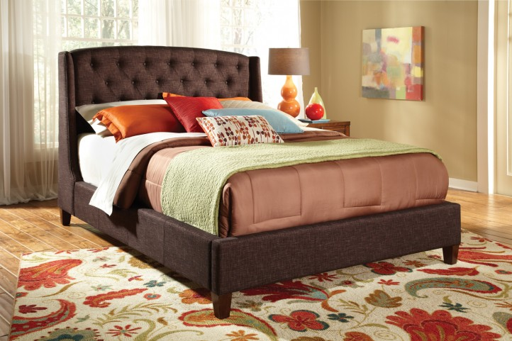 300247Q Deep Brown Queen Bed