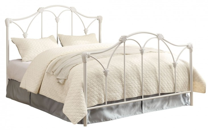 Scarlett White Full Panel Bed