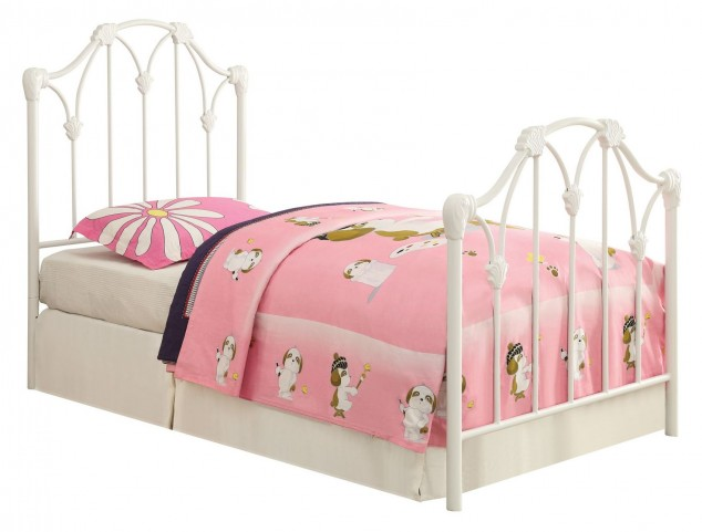 Scarlett White Twin Panel Bed