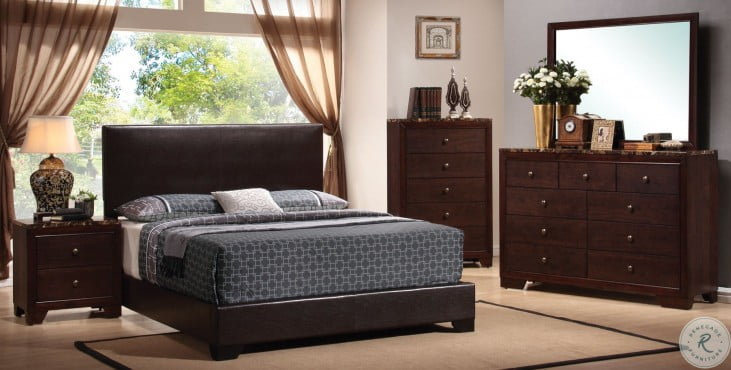 Conner Dark Brown Youth Low Profile Bedroom Set