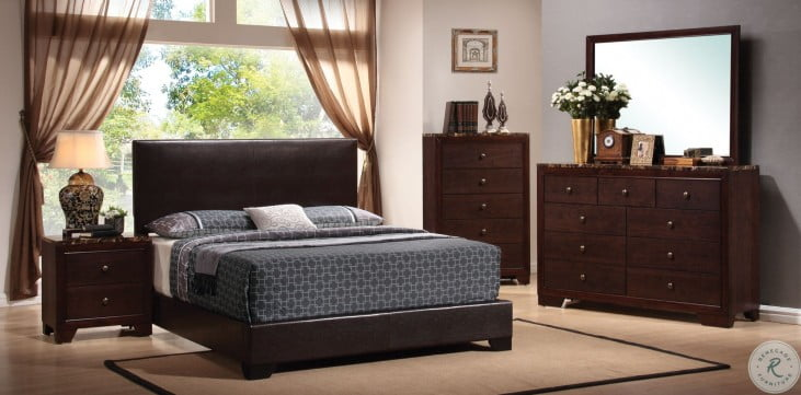 Conner Dark Brown Low Profile Bedroom Set
