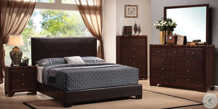Conner Black Low Profile Bedroom Set