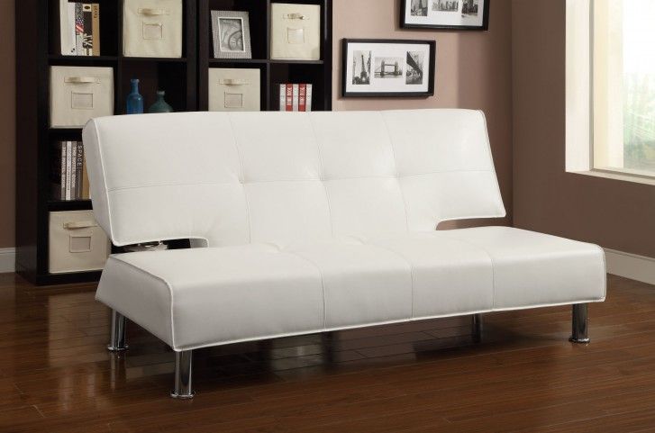 300296 White Sofa Bed