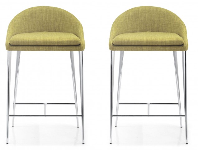 Reykjavik Pea Fabric Counter Chair Set of 2