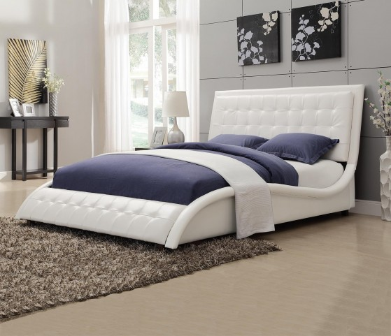 Tully White Queen Upholstered Bed