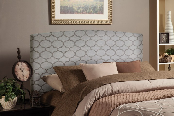 Grey quatrefoil King/Cal King Headboard