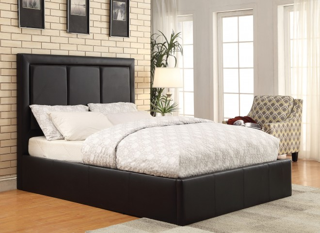 Jacobsen Black Queen Platform Bed