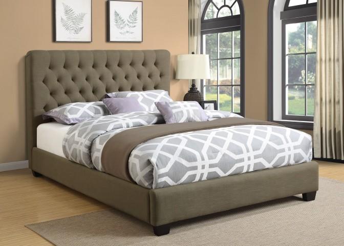 Chloe Charcoal King Platform Bed