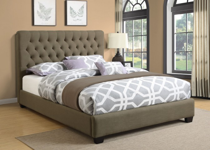 Chloe Charcoal Queen Platform Bed