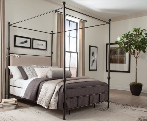 Lanchester King Metal Canopy Bed