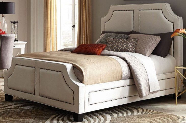 Washbourne White King Panel Bed by Donny Osmond