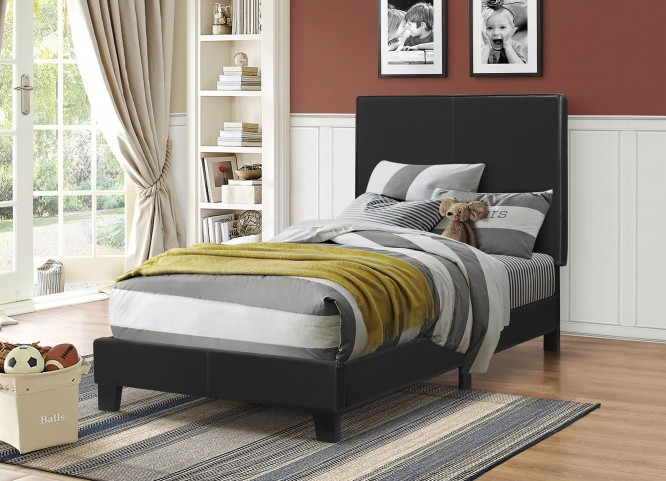Mauve Black Twin Platform Bed