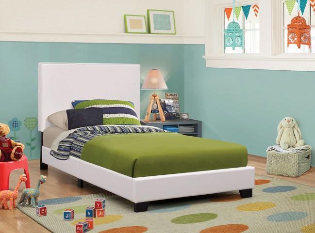 Mauve White Full Platform Bed