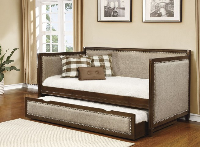 Rich Amber With Oatmeal Upholstered Daybed