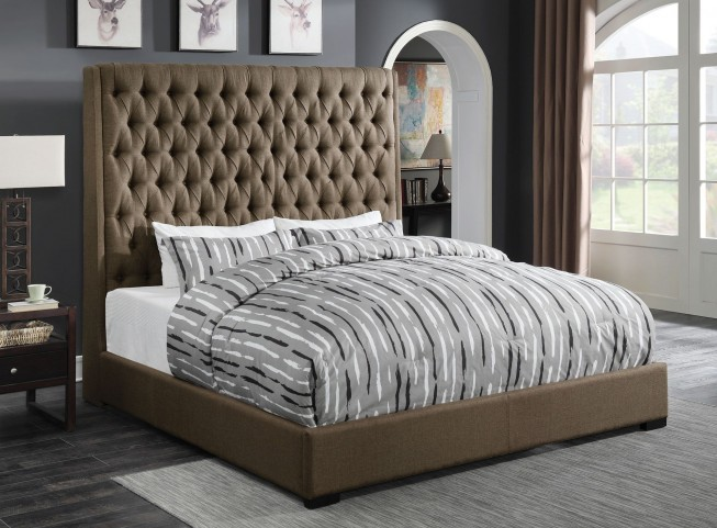 Camille Brown King Platform Bed