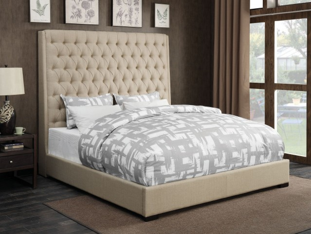 Camille Cream Queen Platform Bed