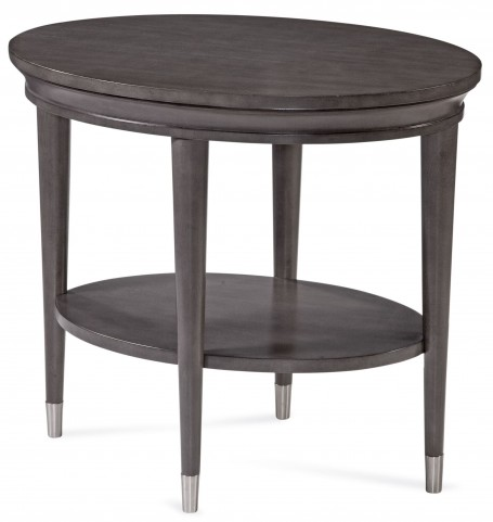 Essex Taupe Oval End Table