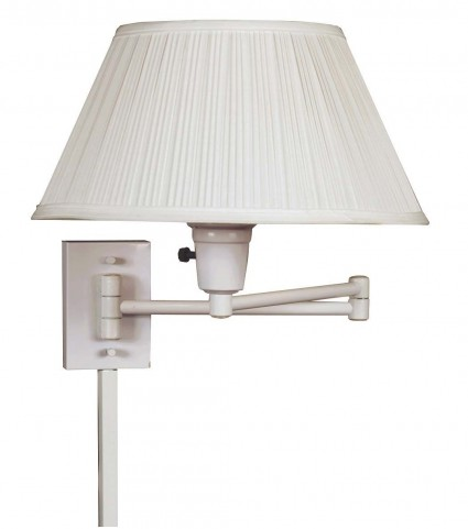 Simplicity White Wall Swing Arm Lamp