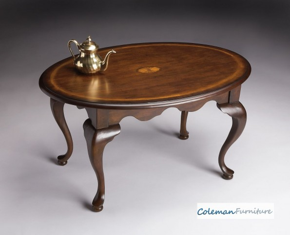 Plantation Cherry 3012024 Oval Cocktail Table