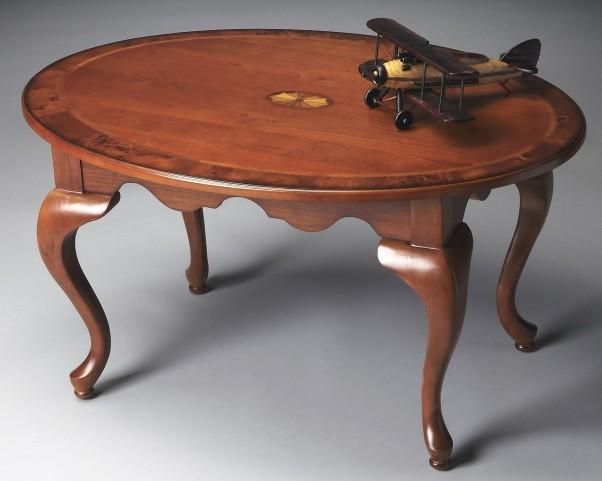 Grace Masterpiece Olive Ash Burl Oval Cocktail Table