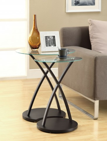 3013 Cappuccino Bentwood 2Pcs Nesting Tables