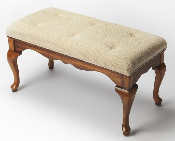 Plantation Cherry Grace Olive Ash Burl Bench