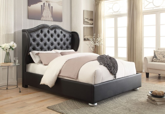 Clarice Black King Platform Bed