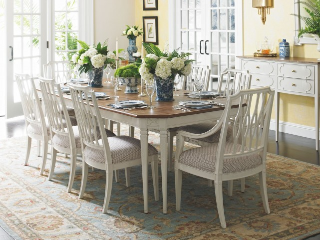 Charleston Regency Ropemakers White Drayton 8 Leg Dining Room Set