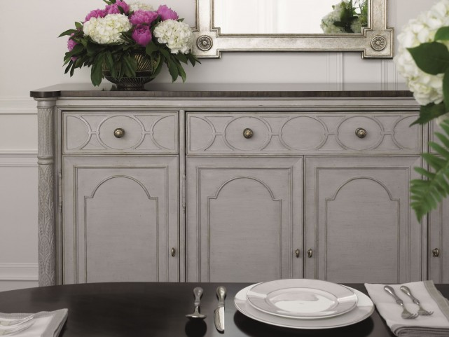 Charleston Regency Gray Linen East Battery Buffet