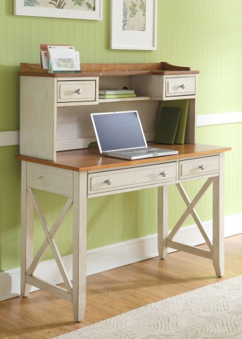 Ocean Isle Writing Desk with Hutch