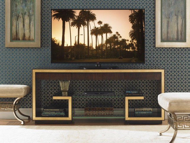 "Bel Aire Walnut Rodeo 72"" Media Console"