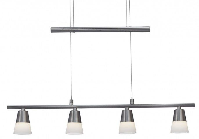 Aerial Satin Steel Led 6 Light Pendant