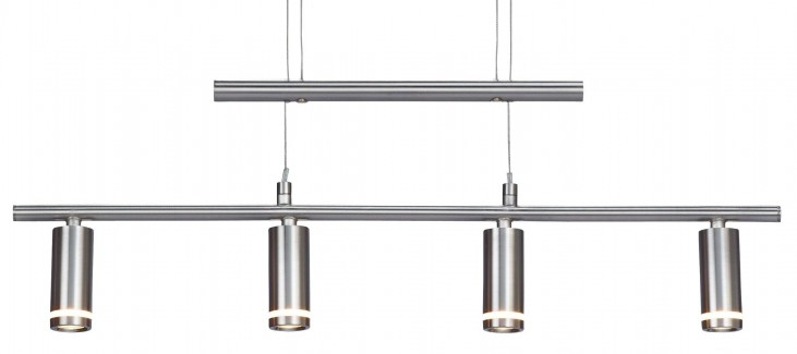 Eos Satin Steel Led 4 Light Pendant