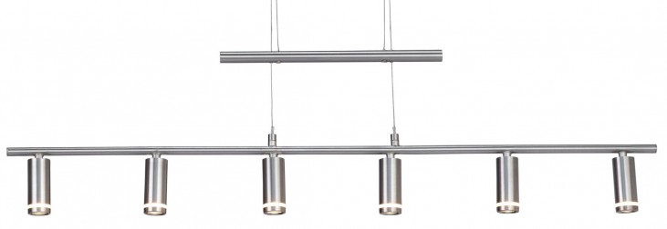 Eos Satin Steel Led 6 Light Pendant