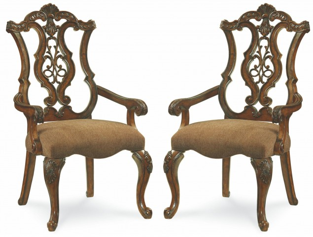 Pemberleigh Pierced Back Arm Chair Set of 2