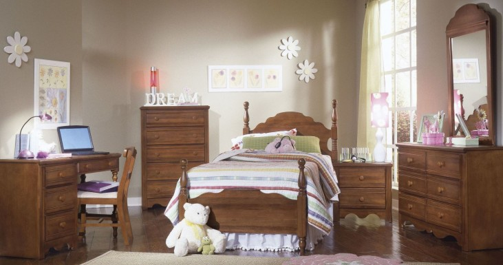 Carolina Crossroads Brown Cherry Youth Panel Bedroom Set