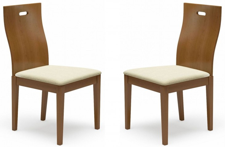 Beechwood District 2 Walnut Dining Chair Set of 2