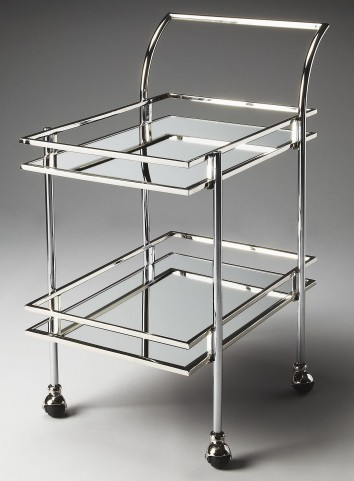 3139220 Gatsby Loft Nickel Bar Cart