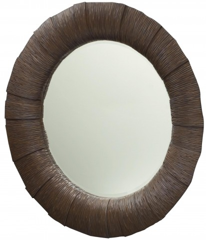 Grove Point Warm Khaki Round Mirror