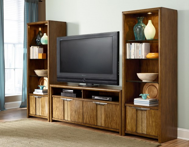 Grove Point Warm Khaki Entertainment Center