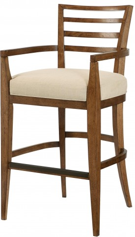Grove Point Warm Khaki Ladder Back Bar Stool