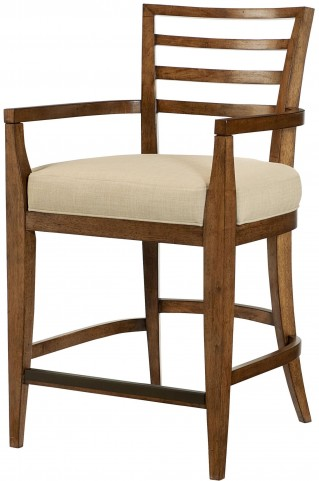 Grove Point Warm Khaki Ladder Back Counter Stool