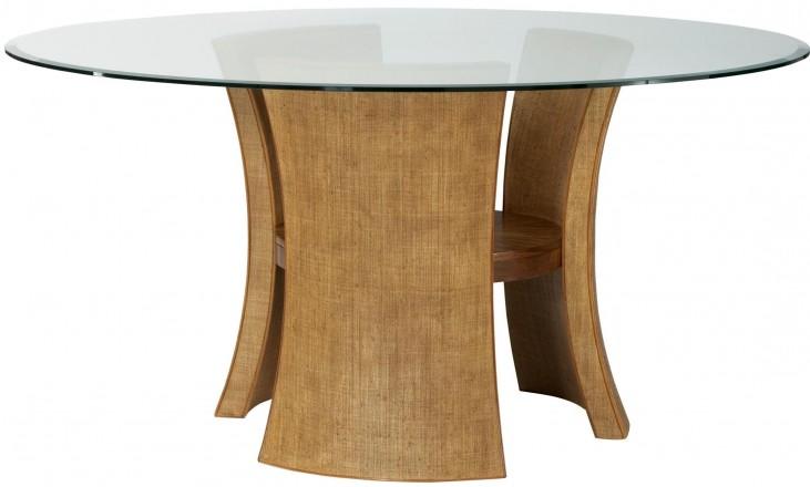 Grove Point Warm Khaki Round Pedestal Dining Table